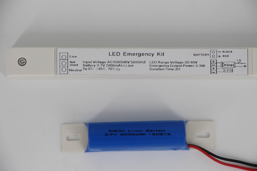 3 Hour Maintained Liner light emergency kit with CE
